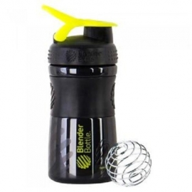 BLENDER BOTTLE SPORT MIXER PRETA COM VERDE (590ML) - BLENDER BOTTLE