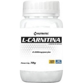 L- CARNITINA 2000MG (120 CAPS) - NUTRATEC