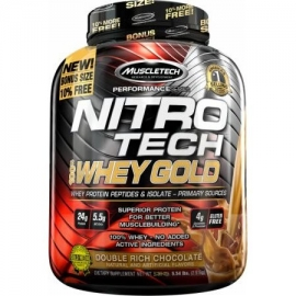 NITRO TECH 100% WHEY GOLD 10% MORE (2,51KG) - MUSCLETECH