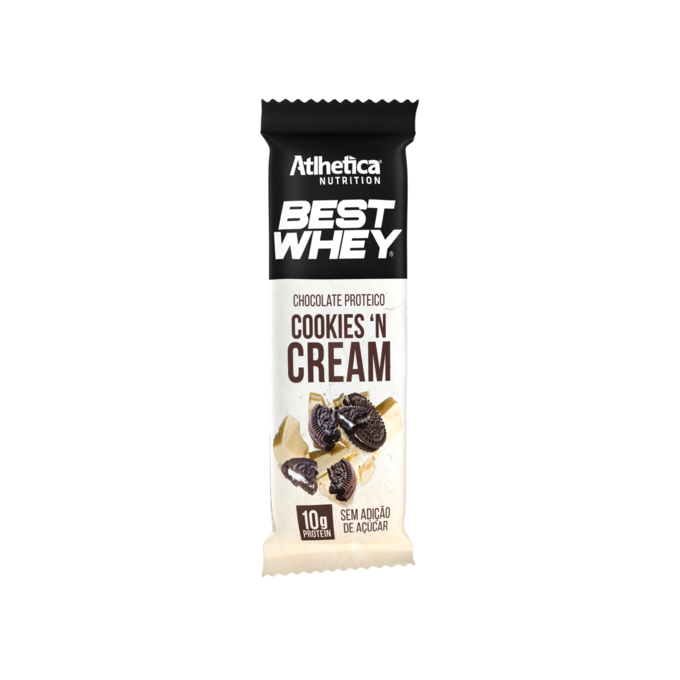 BEST WHEY CHOCOLATE PROTEICO BRANCO COOKIES AND CREAM  (1 UNIDADE DE 50G) - ATLHETICA