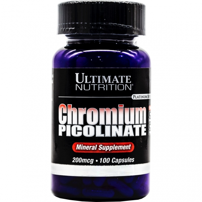CHROMIUM PICOLINATE 200MCG (100 CAPS) - ULTIMATE NUTRITION