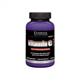 VITAMINA C 1000MG MASTIGÁVEL (120 TABS) - ULTIMATE NUTRITION