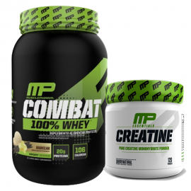 COMBO COMBAT 100% WHEY (900G) + CREATINA (300G) - MUSCLE PHARM