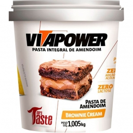 PASTA DE AMENDOIM INTEGRAL BROWNIE CREAM (1,005KG) - VITAPOWER