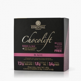 CHOCOLIFT BE ALIVE COM BERRIES CAIXA (12 BARRAS) - ESSENTIAL NUTRITION