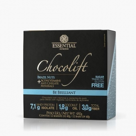CHOCOLIFT BE BRILLIANT COM NUTS CAIXA (12 BARRAS) - ESSENTIAL NUTRITION