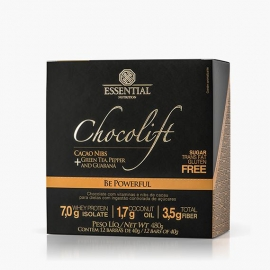 CHOCOLIFT BE POWERFUL COM NIBS DE CACAU CAIXA (12 BARRAS) - ESSENTIAL NUTRITION