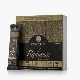 RADIANCE PROTEIN BAR CHOCOLATE GOURMET CAIXA (8 BARRAS) - ESSENTIAL NUTRITION