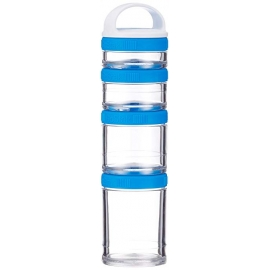GO STAK 4 COMPARTIMENTOS AZUL - BLENDER BOTTLE
