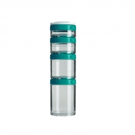 GO STAK 4 COMPARTIMENTOS VERDE ESCURO - BLENDER BOTTLE