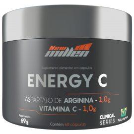 ENERGY C COM ARGININA (60 CAPS) - NEW MILLEN CLINICAL SERIES