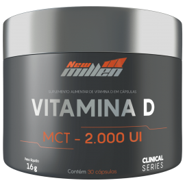 VITAMINA D COM MCT - 2000UI (30 CAPS) - NEW MILLEN CLINICAL SERIES