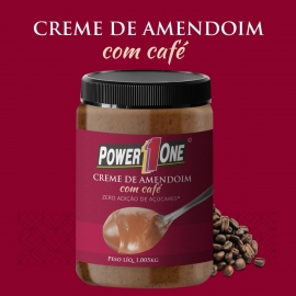 CREME DE AMENDOIM COM CAFÉ SEM AÇÚCAR (1KG) - POWER ONE