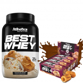 COMBO BEST WHEY 900G + CAIXA BEST WHEY BAR ZERO AÇÚCAR