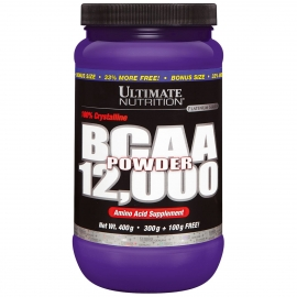 BCAA 12000 POWDER 100% PURO (400G) - ULTIMATE NUTRITION