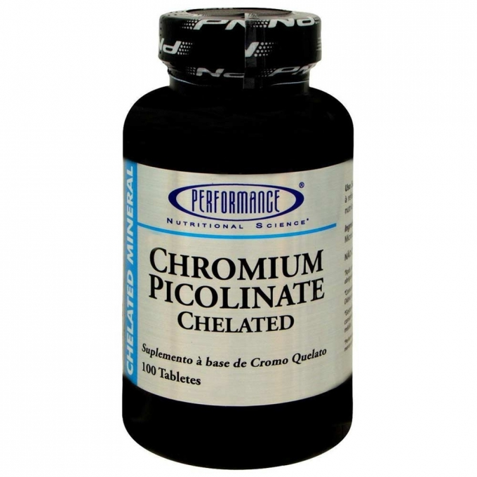 CHROMIUM PICOLINATE CHELATED (100 TABS) - PERFORMANCE NUTRITION