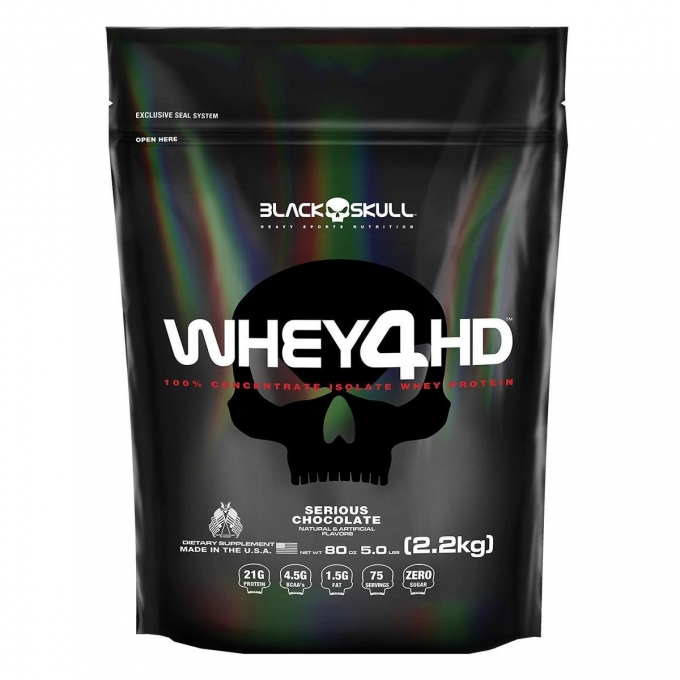 WHEY 4HD REFIL (2,2KG) - BLACK SKULL