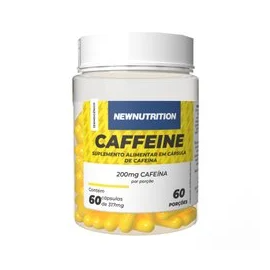 CAFFEINE 200MG (60 CAPS) - NEW NUTRITION