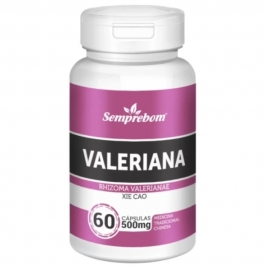 VALERIANA 500MG (60 CAPS) - SEMPREBOM