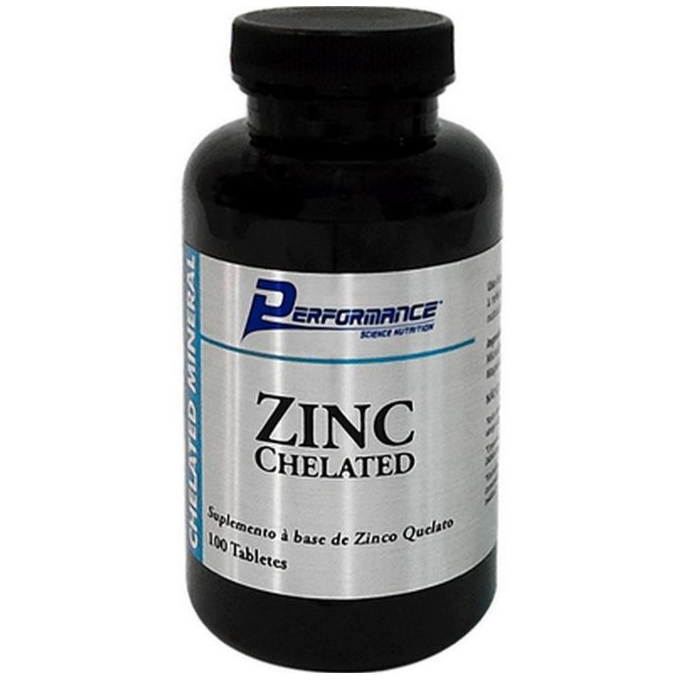 ZINC CHELATED (100 TABS) - PERFORMANCE NUTRITION