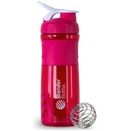 BLENDER BOTTLE SPORT MIXER ROSA COM BRANCO